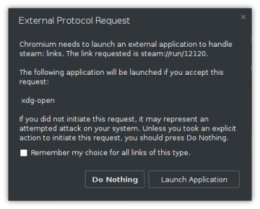 External Protocol Request